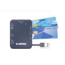 Leitor De Cartões Cnpj/cert Usb 2.0 Para Smart Card - Comtac