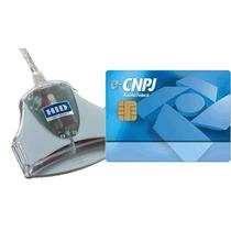 Kit Smartcard + Leitora Para Certificado Digital E-cnpj