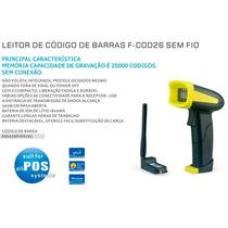 Leitor De Cód De Barras F-cod26 Coletor S/ Fio 12x Fr Gratis