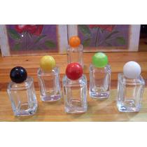 50 Frascos De Perfume Esmalte Mini 10 Ml Vidro Quadrado