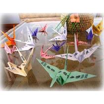 Origami - Tsuru - Com Mensagem - 10 Unidades - Lembrancinha