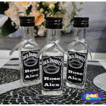 20 Mini Garrafinhas Personalizadas Whisky Tequila Stock