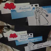 Placas De Reservado Para Mesa Casamento