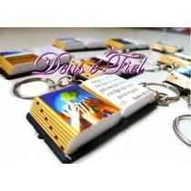 70 Mini Bíblia Lembrancinhas C/ Chaveiro Só Evangélico