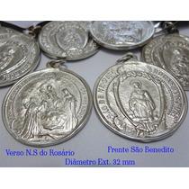 Medalhinha Irmandade São Benedito E N.s.rosário C/fita Cetim