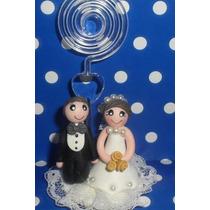 Lembrancinha De Casamento Noivinhos Em Biscuit Com Spiral