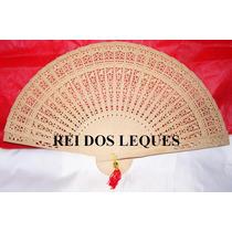 Lote 100 Leques De Madeira,casamento,15anos