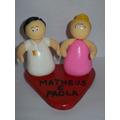 Kit 10 Lembranças Noivinhos Personalizados Biscuit Casamento