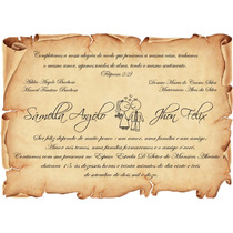 100 Convites Casamento, Pergaminho