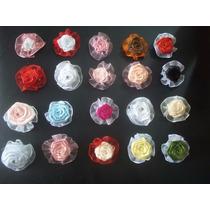 Flores Artesanais De Tecido Kit Com 20 Flores.