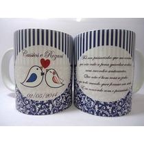 Caneca Porcelana Personalizada Casamento 36un Frete Grátis!