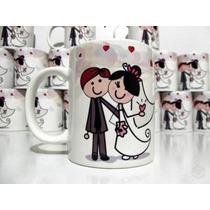 Kit 10 Canecas De Porcelana Personalizadas Casamento Brinde