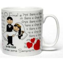Caneca Personalizada Padrinhos Casamento Presente, Lembrança