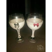 Taças Decoradas Para Casamento