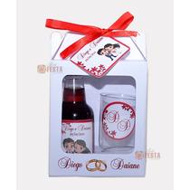 30 Kits Mini Vinho Ou Mini Cachaça Com Taça, Caixinha,e Tag
