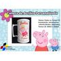 50 Canecas Acrílico Branca Personalizada Peppa Pig 300ml