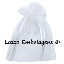 50 Saquinho De Organza Cristal 16x21cm. Lazzo Embalagens