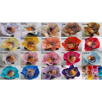 100 Forminhas De Flor Tecido Cetim