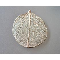 Folha Esqueletizada Natural Banhada/folheada Ouro/prata-par