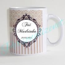 12 Canecas De Cerâmica Personalizadas Padrinhos Casamento