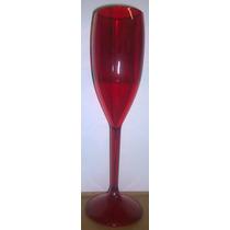 100 Taças Champagne Vinho Acrílico Ps Cristal R$ 2,30 Unid.