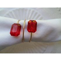 Porta Guardanapo Festas - Pedra Cristal Kit Com 10 Unidades