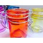 Mini Pote De Vidro Colorido Hermetico Decoração/lembrancinh