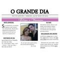 Convites Casamento E Outros Tipo Jornal - 15x21cm - 10 Unid