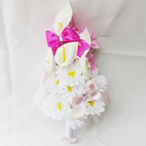 Buquê Bouquet Casamento/noiva Sweet Copo De Leite Margaridas