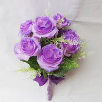 Buquê Bouquet Casamento/noiva Lilás Perfeito