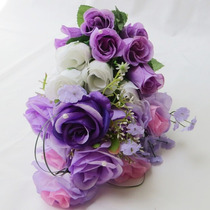 Buquê Bouquet Casamento/noiva Cascata Modelo Grape Fresh