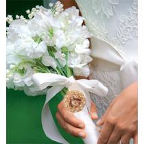 Medalhão Pingente, Bouquet Noiva Foto-homenagem Inesquecível