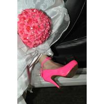 Buque/ Bouquet De Noiva Lindo Com Flores Artificias E Strass