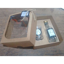 16 Kits Mini Vinho Personalizado C/ Garrafa E Copo De Vidr6