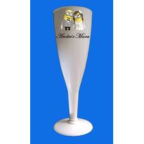 50 Taças Champagne Acrilico Personalizadas Em Cores