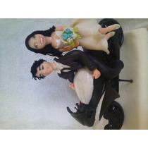 Noivos Na Moto Topo De Bolo,casamento Personalizados