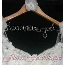 Cabide De Noiva Personalizado / Cabide Vestido De Noiva
