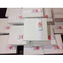 Caixa Para Padrinhos Renda E Rosa 15x15 X6