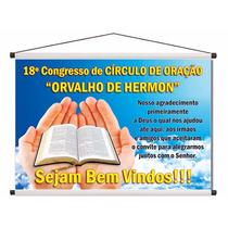 Banner Lona Igreja Festividade Congresso