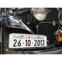 Placa De Carro Para Casamento