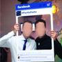 Placa Facebook Instagram Moldura Redes Sociais + Brinde