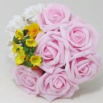 Buquê Casamento/noiva Para Noivinhas Ou Daminhas Rosas