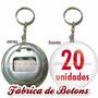 20 Chaveiros Abridores De Garrafa Personalizados 5,5cm