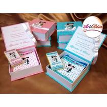 Caixa Convite Box + Revista + Giz = Lembrança Daminha, Pajem