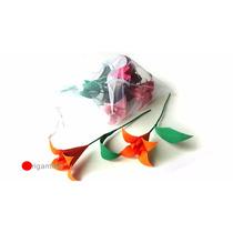 Flor De Lírio De Origami - 100 Flores - Médio Papel 14cm