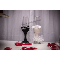 Taça P/ Brinde Dos Noivos - Personalizada - Casamento