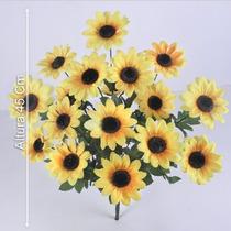 Buquê Com 18 Girassóis 45 Cm - Flores Artificiais
