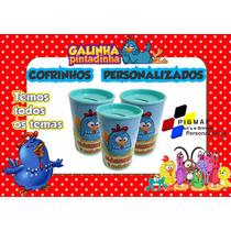50 Cofrinhos Personalizados Galinha Pintadinha 300ml
