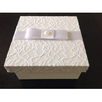 Caixa Para Padrinhos Ou Lembrancinhas De Casamento 10x10x4