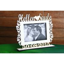 Porta Retrato, Cabide Noiva,1 Placa Personalizada, 2 Placas